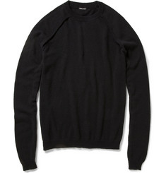 Ann Demeulemeester Cotton, Cashmere and Silk-Blend Sweater