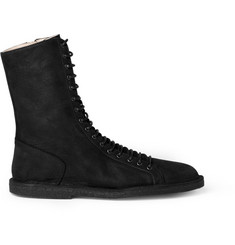 Ann Demeulemeester Crepe-Sole Leather Boots