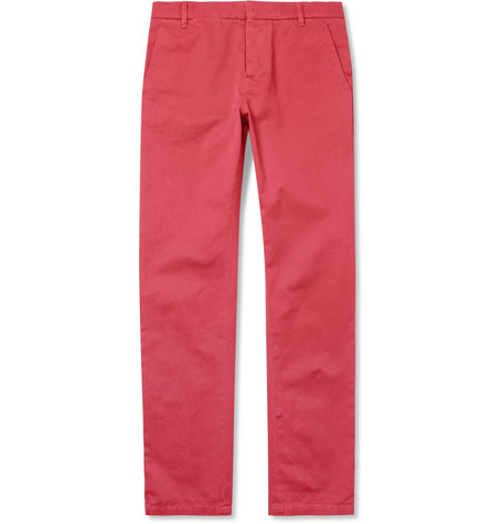 Band of Outsiders Slim-Fit Washed Cotton-Twill Chinos