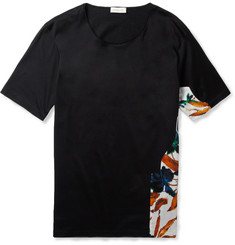 Balenciaga Panelled Cotton T-Shirt