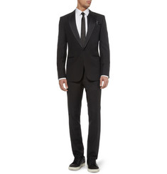 Balenciaga Black Slim-Fit Wool Tuxedo
