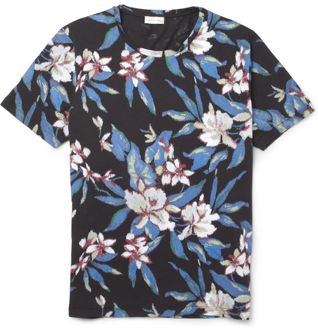 Balenciaga Tropical-Print Cotton-Jersey T-Shirt