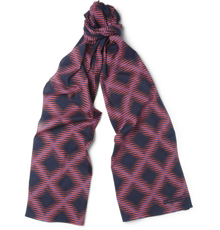 Balenciaga Printed Cotton Scarf
