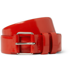 Balenciaga Glossed-Leather Belt