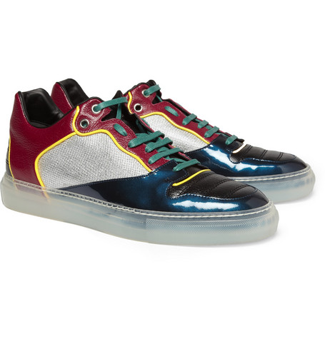 Balenciaga Panelled Leather and Fabric Sneakers
