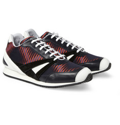 Balenciaga Printed Fabric and Leather Sneakers