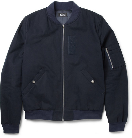 A.P.C. Brushed Cotton-Canvas Bomber Jacket
