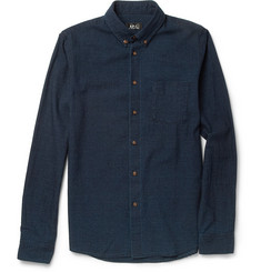A.P.C. Slim-Fit Button-Down Collar Cotton Shirt