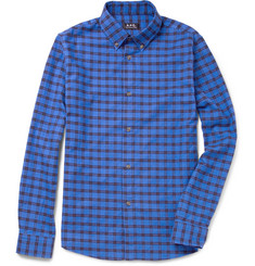 A.P.C. Check Cotton-Flannel Shirt