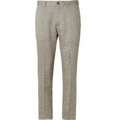 A.P.C. Sand Woven-Linen and Wool-Blend Trousers