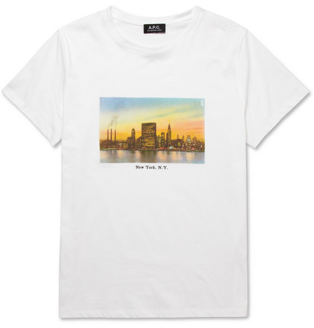 A.P.C. New York-Print Cotton-Jersey T-Shirt