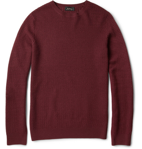 A.P.C. Open-Knit Wool Sweater