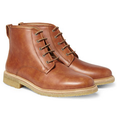 A.P.C. Crepe-Sole Leather Boots