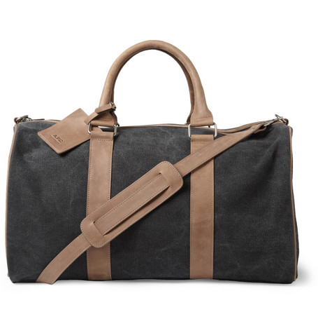 A.P.C. Leather and Canvas Holdall