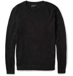 Rag & bone Concord Flecked Cotton-Blend Sweater