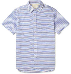 Rag & bone Striped Woven-Cotton Short Sleeved Shirt