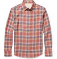 Rag & bone Yokohama Slim-Fit Plaid Brushed-Twill Shirt