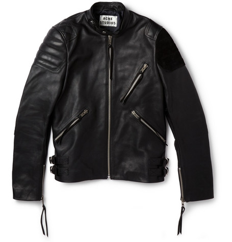 Acne Studios Oliver Leather and Suede Biker Jacket
