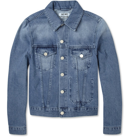 Acne Studios Jam Washed-Denim Jacket
