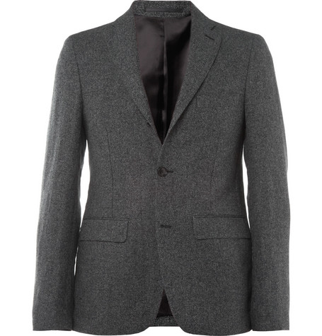 Acne Studios Grey Drifter Slim-Fit Linen and Cotton-Blend Suit Jacket
