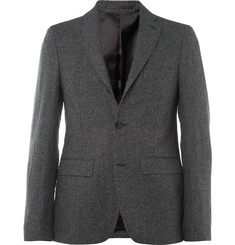 Acne Grey Drifter Slim-Fit Linen and Cotton-Blend Suit Jacket