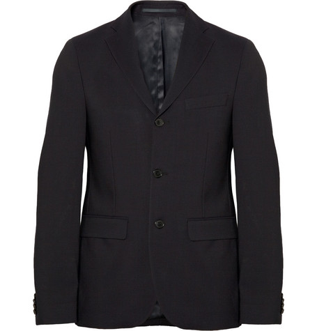 Acne Studios Navy Drifter Wool-Twill Suit Jacket