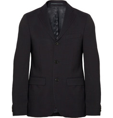 Acne Navy Drifter Wool-Twill Suit Jacket