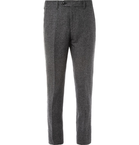 Acne Grey Drifter Slim-Fit Linen and Cotton-Blend Suit Trousers