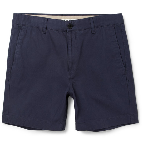 Acne Studios Seymour Straight-Leg Cotton-Twill Shorts