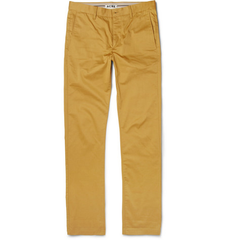 Acne Studios Roc Slim-Fit Cotton-Blend Trousers