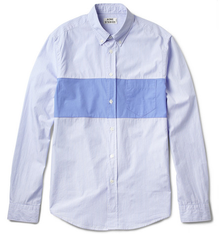 Acne Isherwood Block Striped Cotton Shirt