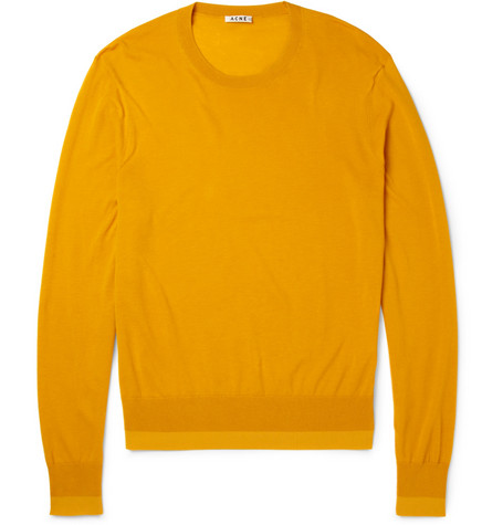 Acne Studios Adam O Lightweight Cotton-Blend Sweater