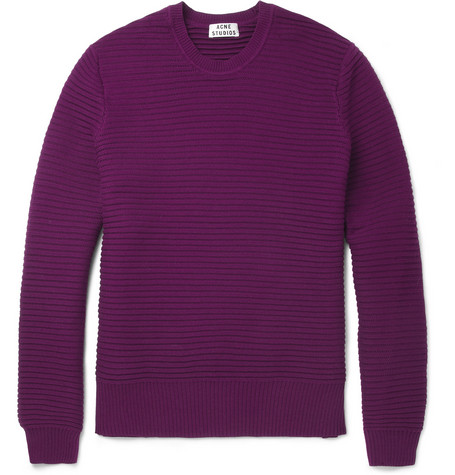 Acne Studios Cusco Knitted Cotton Crew Neck Sweater