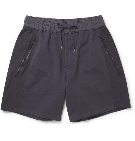 Acne Studios Arnold Panelled Loopback Cotton-Blend Shorts