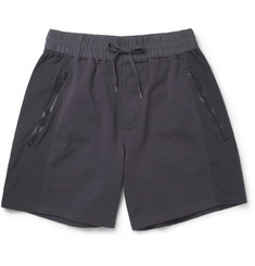Acne Arnold Panelled Loopback Cotton-Blend Shorts