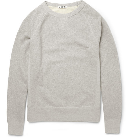 Acne Studios College Loopback-Cotton Sweatshirt