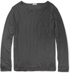 Acne Granville Long-Sleeved Linen T-Shirt