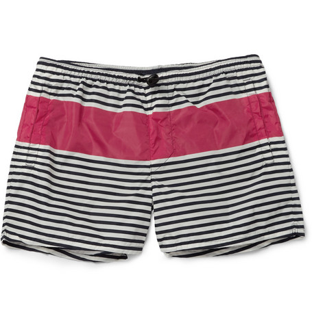 Acne Besson Short-Length Striped Swim Shorts