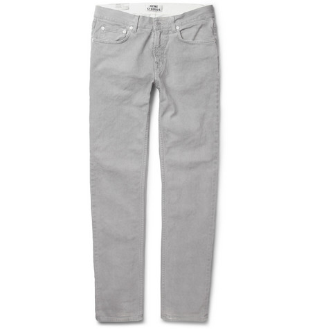 Acne Ace Slim-Fit Oversprayed Denim Jeans