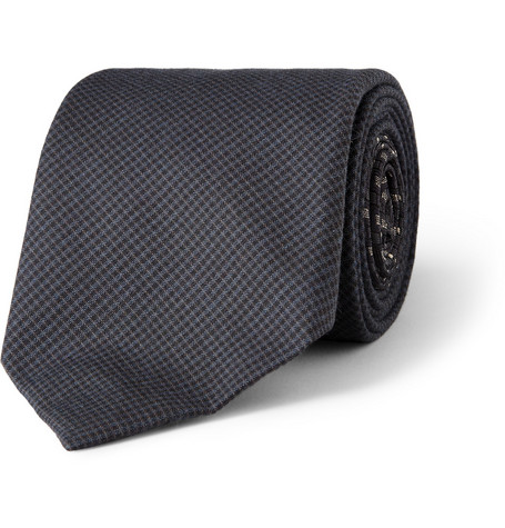 Acne Studios Check and Geometric-Print Wool and Silk-Blend Tie