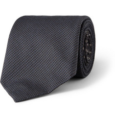 Acne Check and Geometric-Print Wool and Silk-Blend Tie