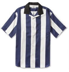 Acne Oahu Striped Short-Sleeved Cotton Shirt