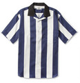 Acne Studios Oahu Striped Short-Sleeved Cotton Shirt