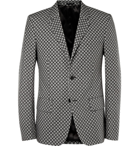 Alexander McQueen Slim-Fit Printed Cotton Blazer