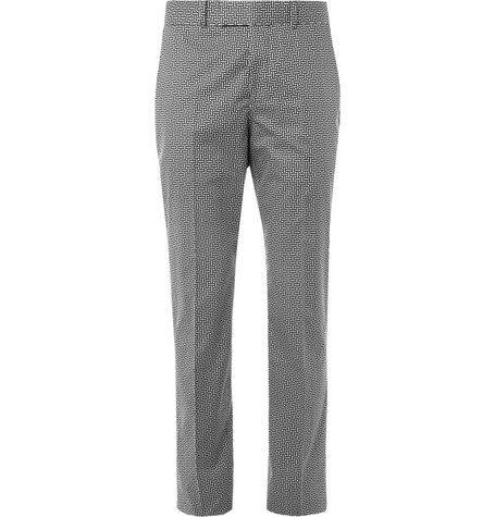 Alexander McQueen Slim-Fit Printed Cotton Trousers