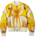 Alexander McQueen Dragonfly-Print Wool and Silk-Blend Bomber Jacket
