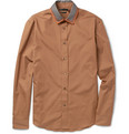 Alexander McQueen Silk-Collar Cotton Shirt