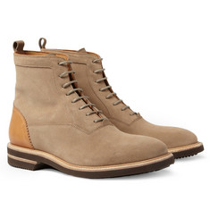 Alexander McQueen Suede and Leather Boots