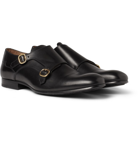 Alexander McQueen Leather Monk-Strap Shoes