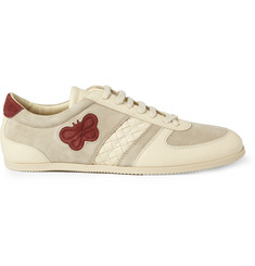 Bottega Veneta Leather and Suede Sneakers